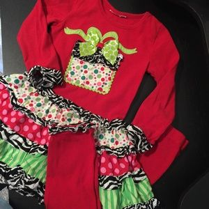 PRECIOUS HOLIDAY OUTFIT. SIZE 4